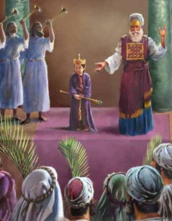 2 Chronicles 23: Joash Was Crowned King of Judah at 7 Years Old.
