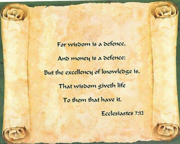 Ecclesiastes 7 – The Value of Practical Wisdom