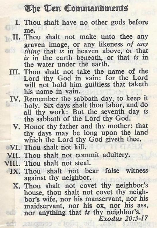 Exodus 20 – God Spoke the Ten Commandments
