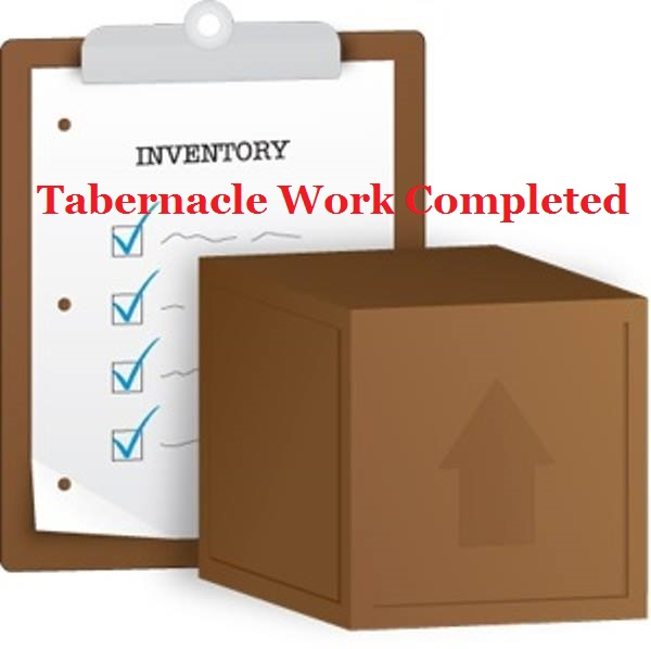 Exodus 38 – Inventory of the Tabernacle Work Completed