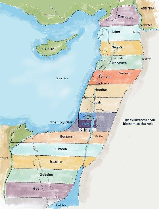 Ezekiel 48: The Boundaries and the Divisions of the Land of Israel During the Millennial Reign, and the Eternal Reign With GOD.