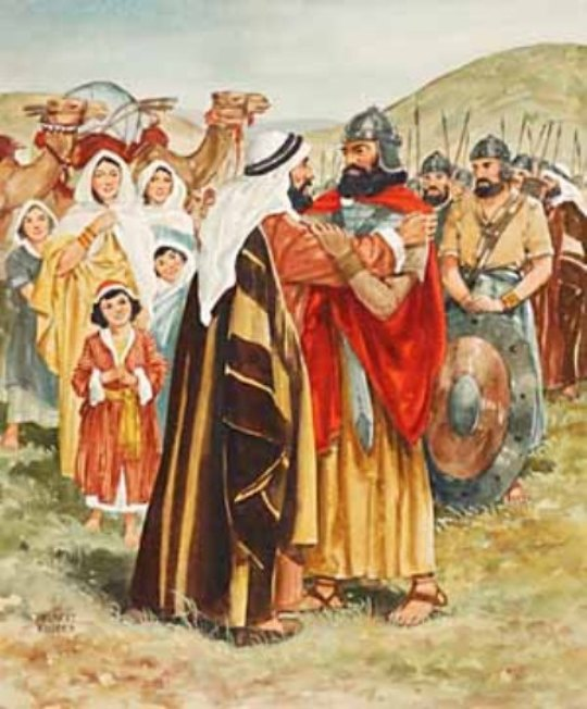 Genesis 33 - Jacob and Esau Made Peace