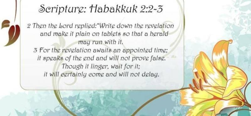Habakkuk 2: The Just Shall Live By Faith in GOD.