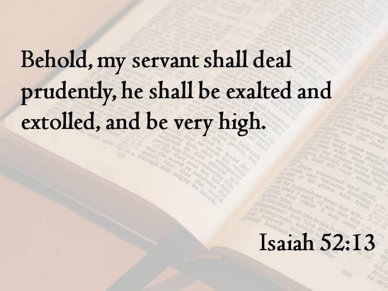 Isaiah 52 – GOD Will Restore Jerusalem