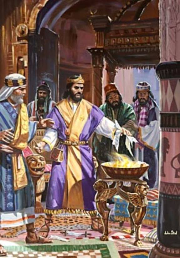 Jeremiah 36: The Burning of the Scroll By King Jehoiakim.