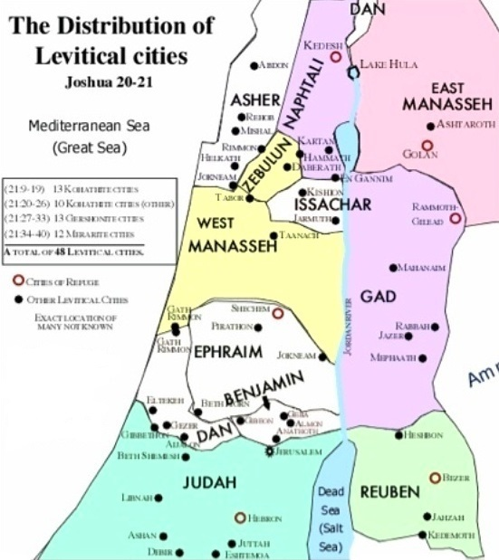 Joshua 21 – The Cities of the Levites
