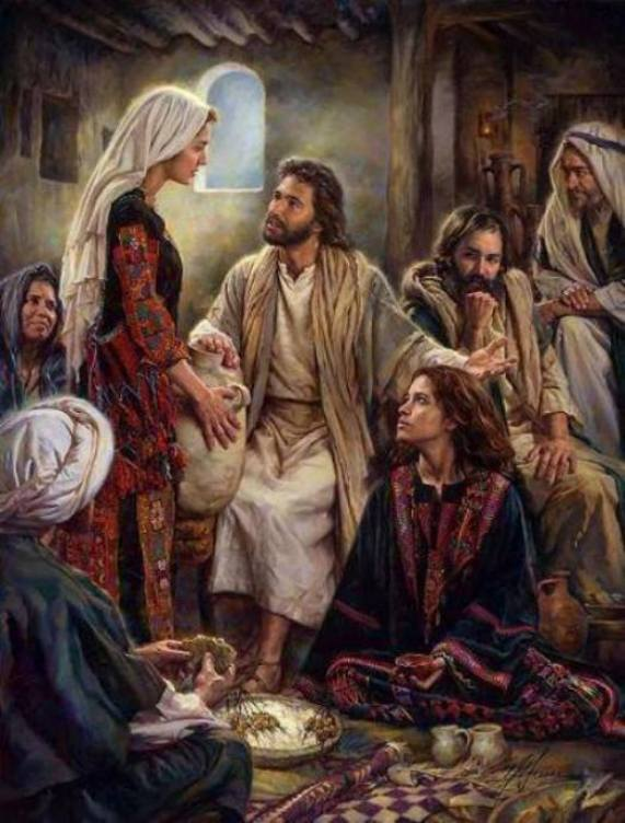 Luke 10d: Jesus Went to Martha and Mary's House, and Jesus Spoke About the Importance of Listening to the Words of God.
