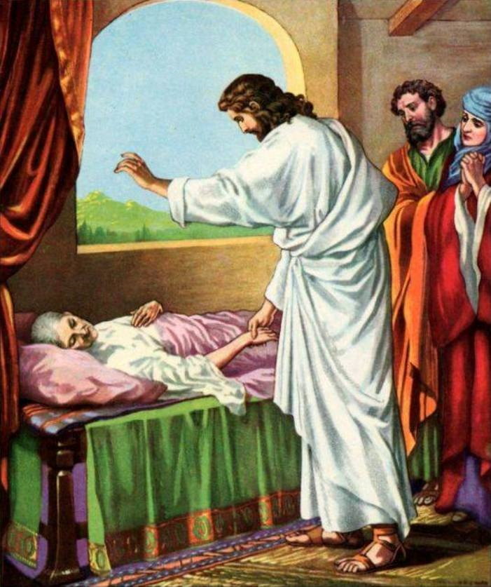 Luke 4d – Jesus Healed Simon's Wife's Mother of Fever