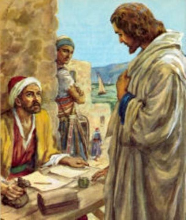 Luke 5d: Jesus Called Levi, and Jesus Dined at Levi's House with His Disciples, Tax Collectors, and Sinners in Order to Minister to Them for Repentance and Salvation.