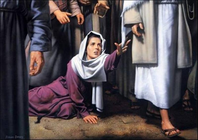 Luke 8g – Jesus Healed the Woman with the Flow of Blood, and Jesus Raised a Dead Little Girl Back to Life