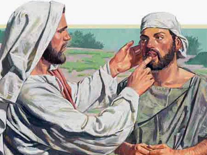 Mark 7c – Jesus Healed a Man Who Was Deaf and had Speech Impediment