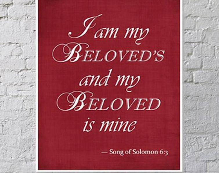 "Song of Solomon 6 – The Bride Says, ""I Am My Beloved's And My Beloved Is Mine."""