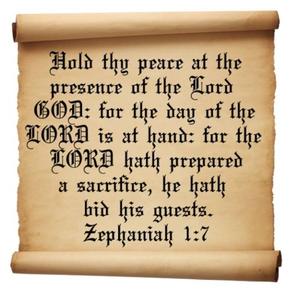 Zephaniah 1 – The Prophecy That The Great Day of the LORD Is Near
